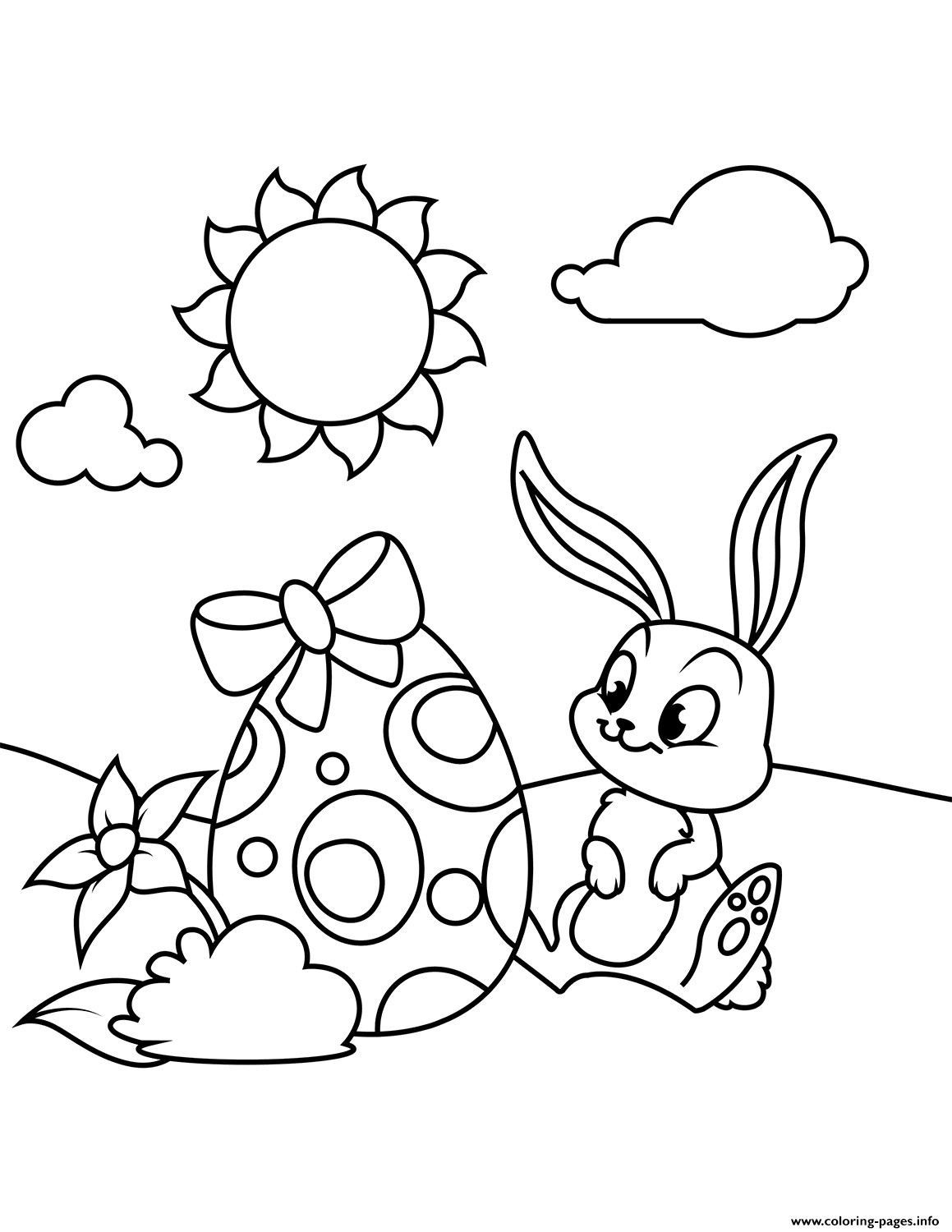 Best ideas about Easter Coloring Pages For Girls . Save or Pin Cute Bunny And Easter Egg Coloring Pages Printable Now.