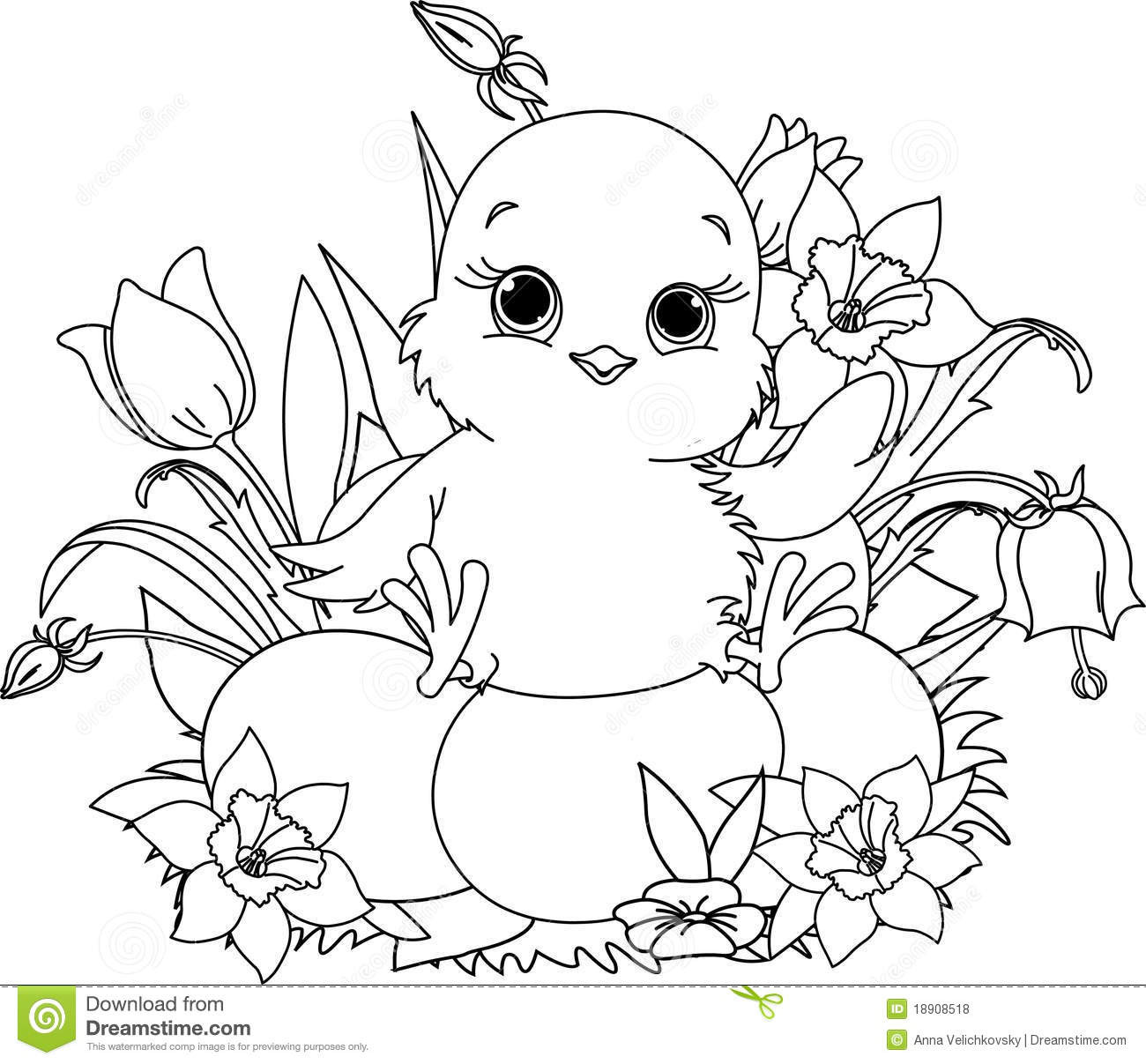 Best ideas about Easter Coloring Pages For Girls . Save or Pin Happy Easter Chick Coloring Page Stock Vector Now.