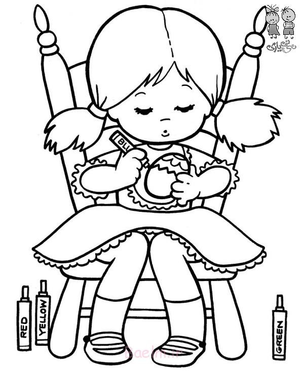 Best ideas about Easter Coloring Pages For Girls . Save or Pin مدل های نقاشی کودکانه آماده برای رنگ آمیزی توسط کودک Now.