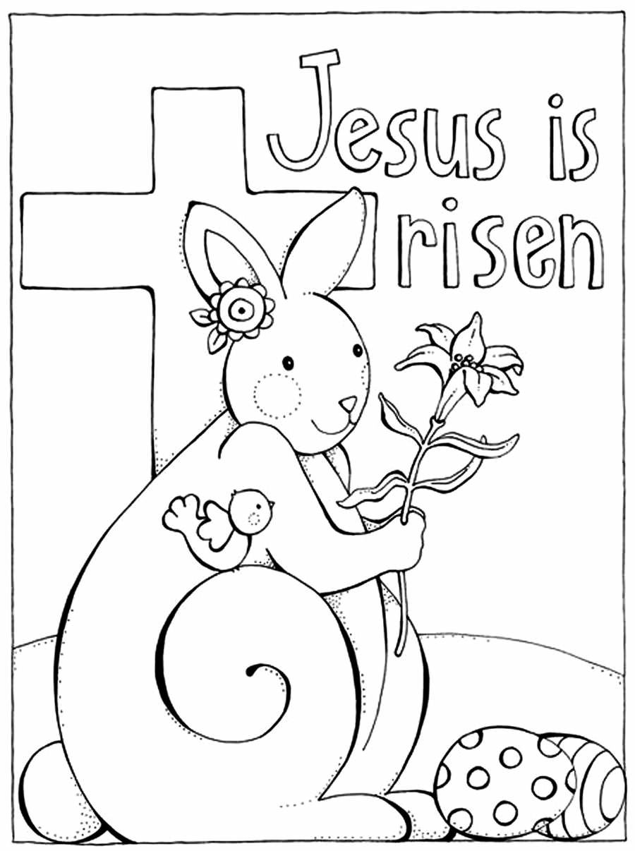 Easter Coloring Pages For Kids  Religious Easter Coloring Pages Best Coloring Pages For Kids