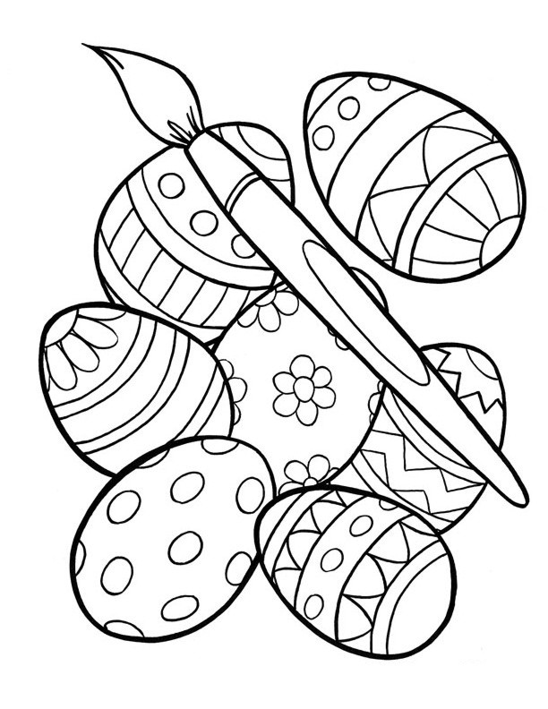 Easter Coloring Pages For Kids  Free Printable Easter Egg Coloring Pages For Kids