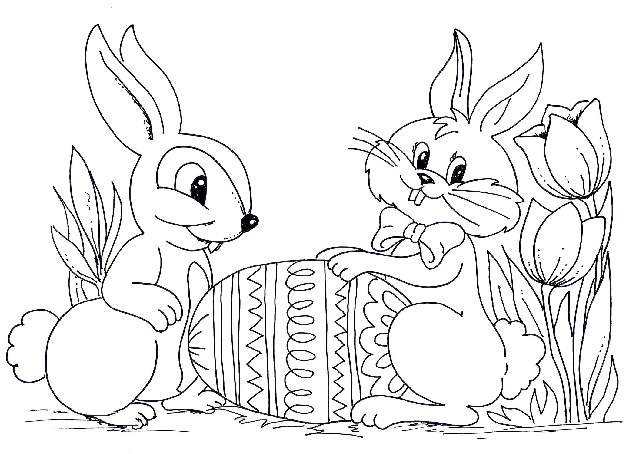 Easter Coloring Pages For Kids  Easter Coloring Pages Best Coloring Pages For Kids
