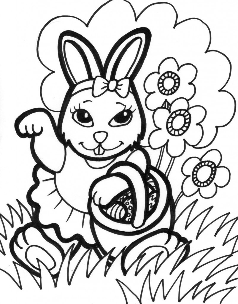 Easter Coloring Pages For Kids  Free Printable Easter Bunny Coloring Pages For Kids