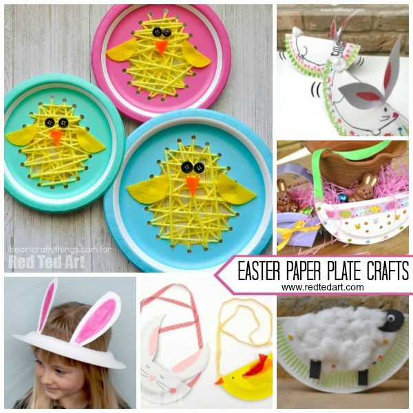 Best ideas about Easter Craft Ideas For Preschoolers . Save or Pin Paper Plate Easter Crafts for Preschool Red Ted Art s Blog Now.