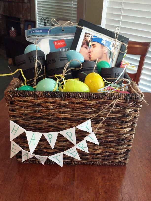 Easter Gift Ideas For Girlfriend  Homemade Easter basket for him