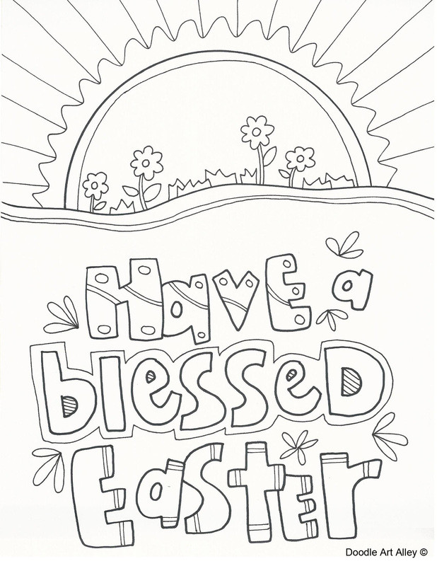Easter Printable Coloring Pages Religious  Easter Coloring Pages Religious Doodles