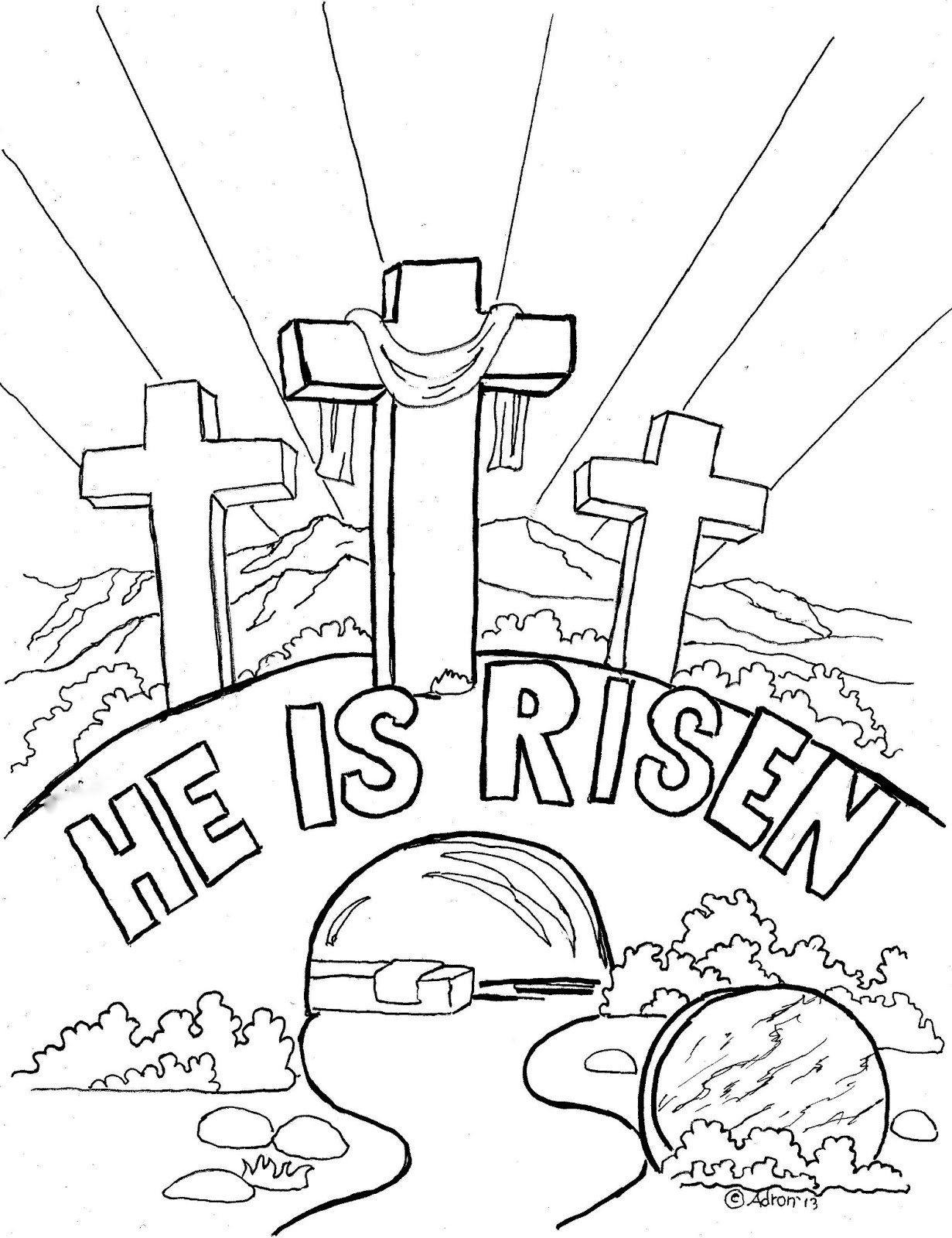 Easter Printable Coloring Pages Religious  Religious Easter Coloring Pages Best Coloring Pages For Kids