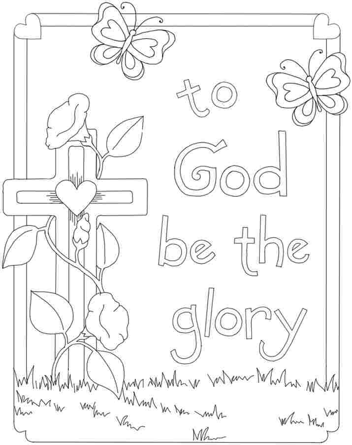 Easter Printable Coloring Pages Religious  Printable Christian Easter Coloring Pages – Color Bros