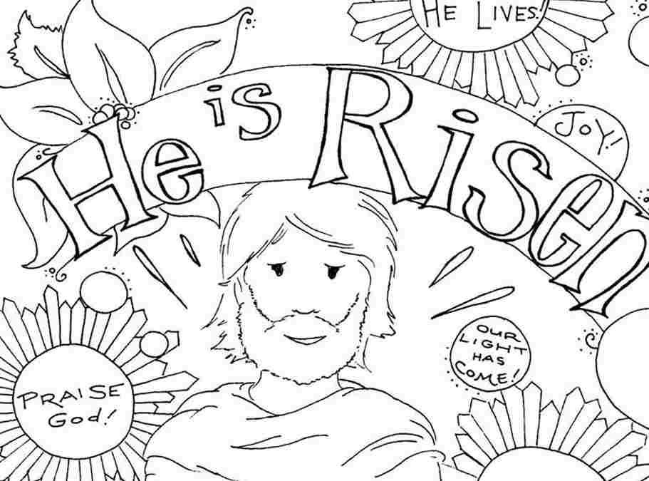 Easter Printable Coloring Pages Religious  Christian Easter Coloring Pages For Kids