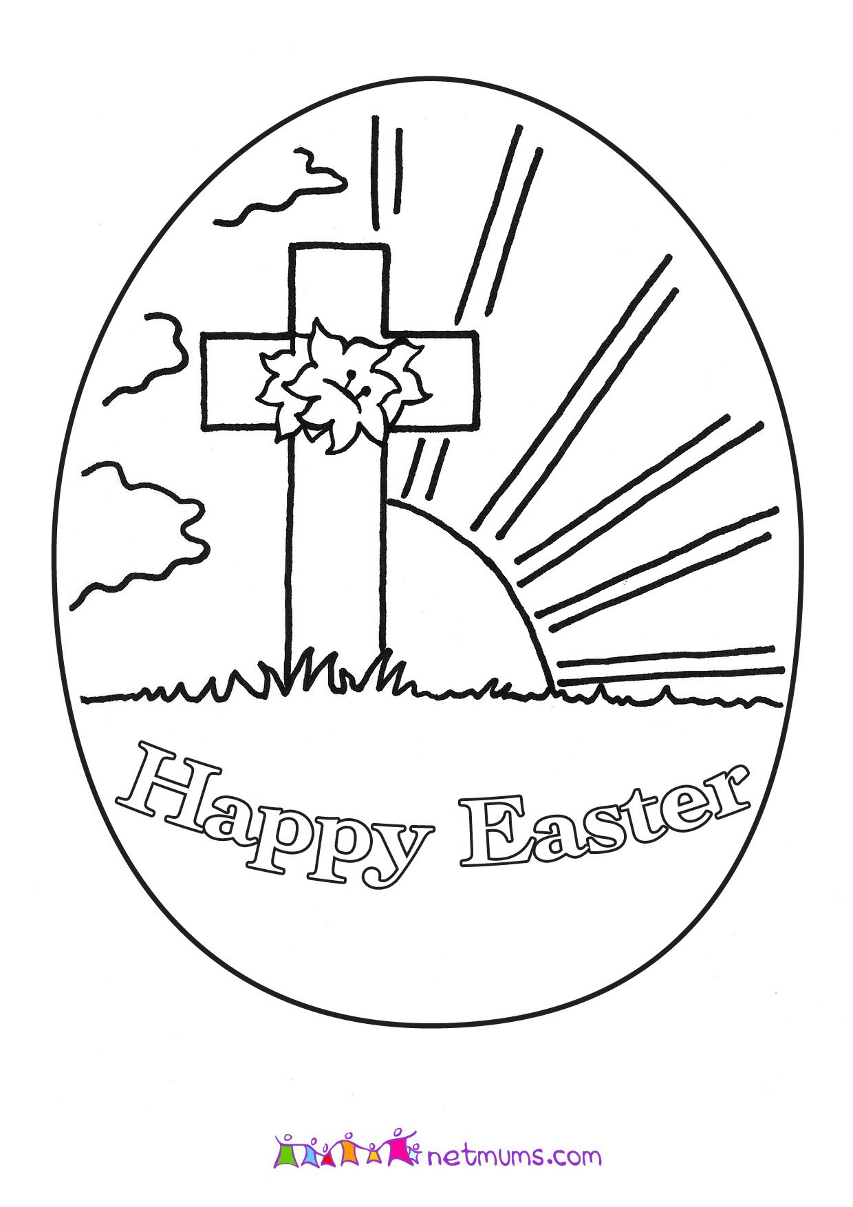 Easter Printable Coloring Pages Religious  Easter Coloring Sheets For Kids Religious Easter Activity