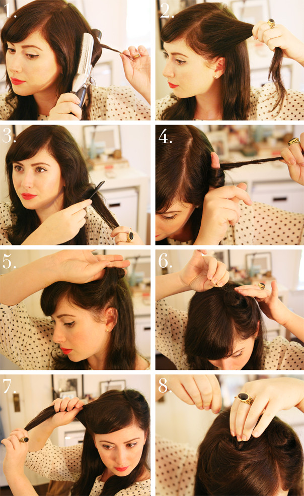 Best ideas about Easy 1940S Hairstyles . Save or Pin 1940s Hair Tutorial Now.