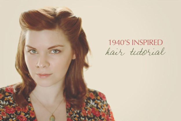 Best ideas about Easy 1940S Hairstyles . Save or Pin 32 Vintage Hairstyle Tutorials You Should Not Miss Now.