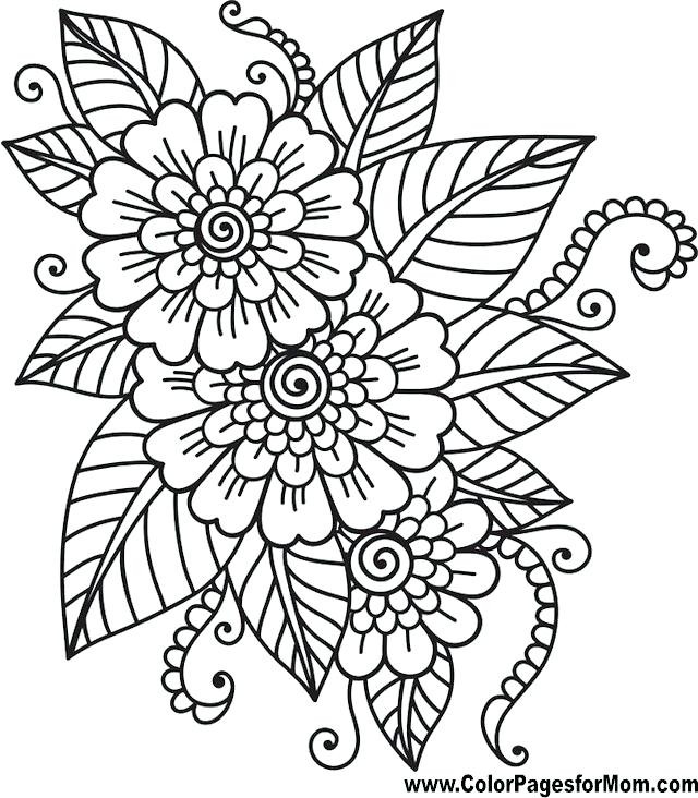 Best ideas about Easy Adult Coloring Books . Save or Pin Easy Printable Coloring Pages Now.