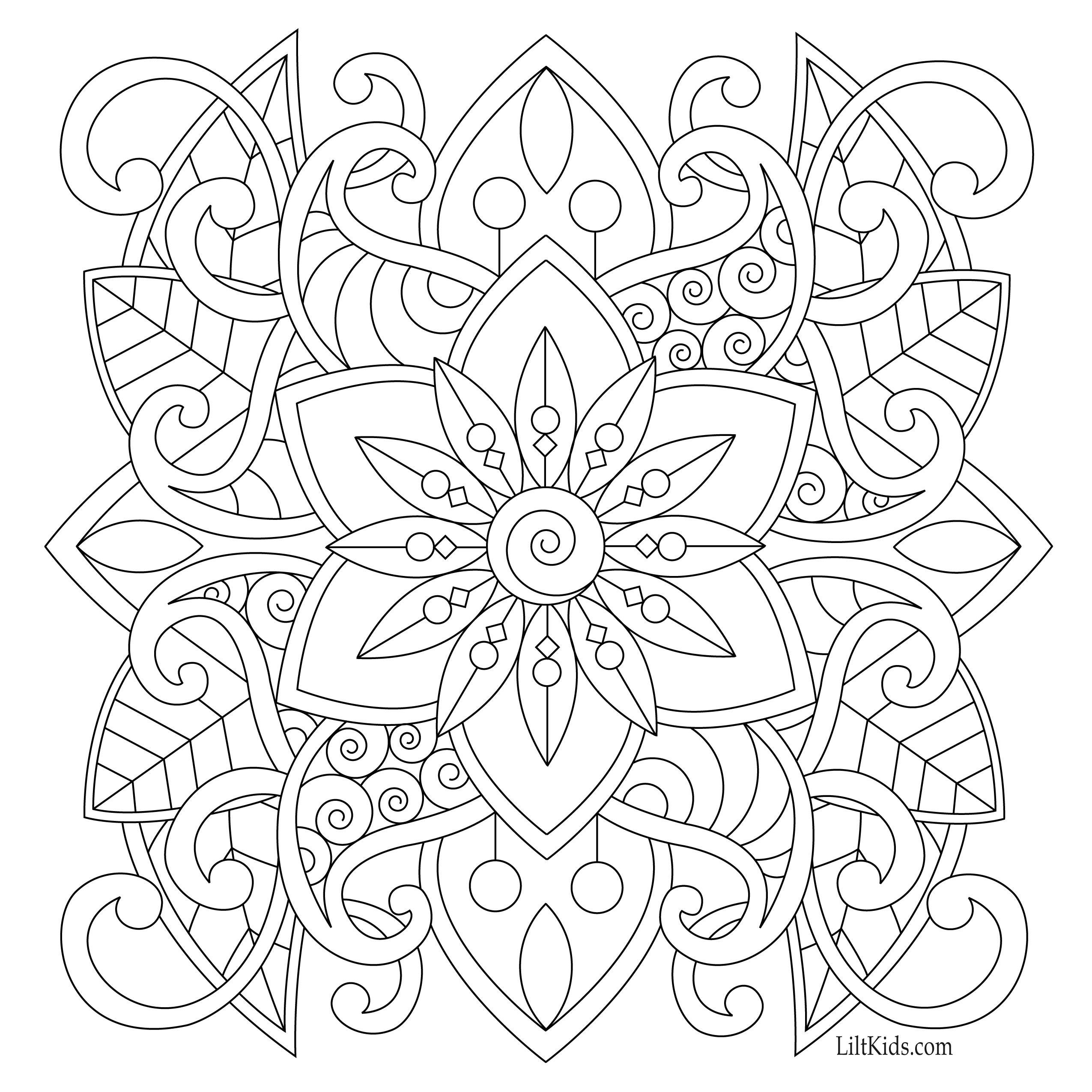 Best ideas about Easy Adult Coloring Books . Save or Pin Free easy mandala for beginners adult coloring book image Now.