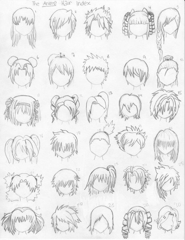 Best ideas about Easy Anime Hairstyles . Save or Pin How to Draw Anime Hair – Steps & Ideas from women Now.