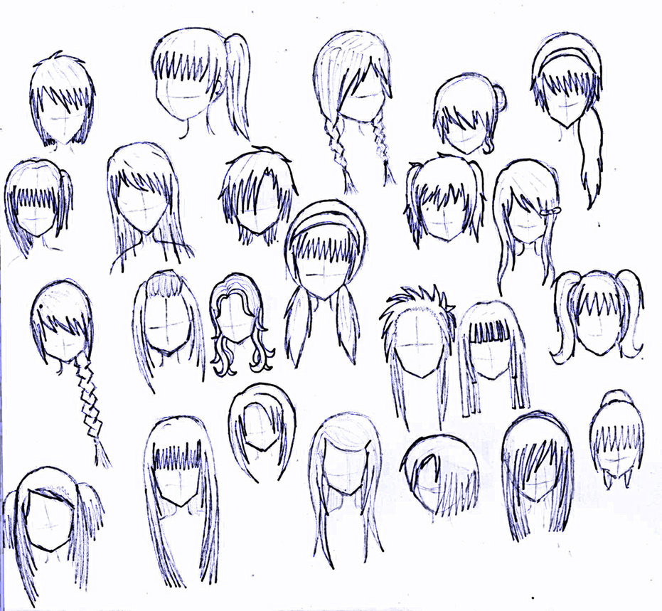 Best ideas about Easy Anime Hairstyles . Save or Pin 24 girls hairstyles by MatsudaKeiko on DeviantArt Now.
