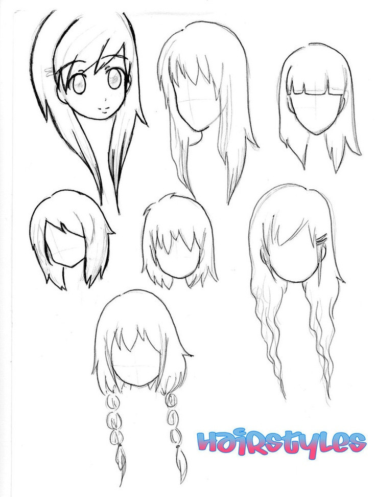Best ideas about Easy Anime Hairstyles . Save or Pin Chibi hairstyles Drawing Pinterest Now.