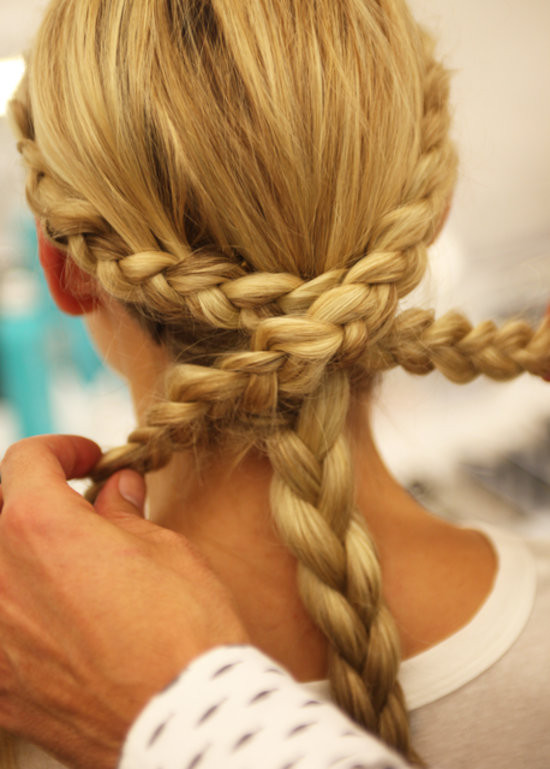 Easy Braided Hairstyles To Do Yourself  Monique Lhuillier Bridal Fall 2014 Braided Hairstyles