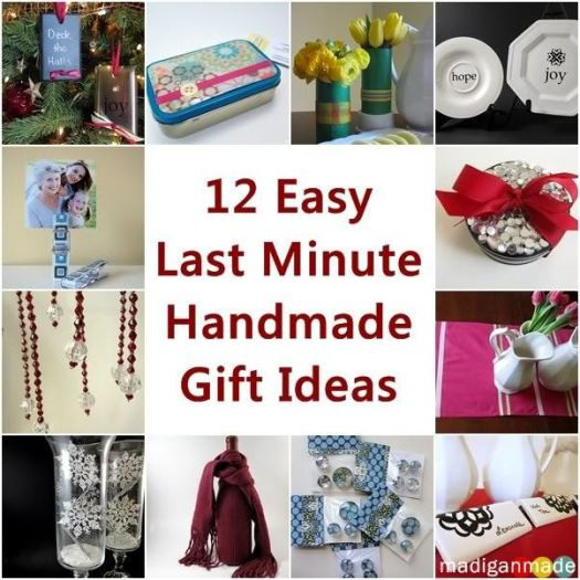 Best ideas about Easy Christmas Craft Gifts . Save or Pin 12 Easy Last Minute Handmade Holiday Gift Ideas Now.