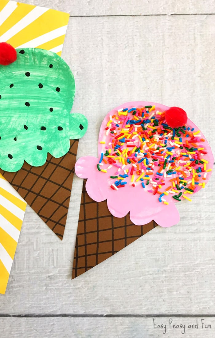 Easy Crafts For Toddlers  Paper Plate Ice Cream Craft Summer Craft Idea for Kids