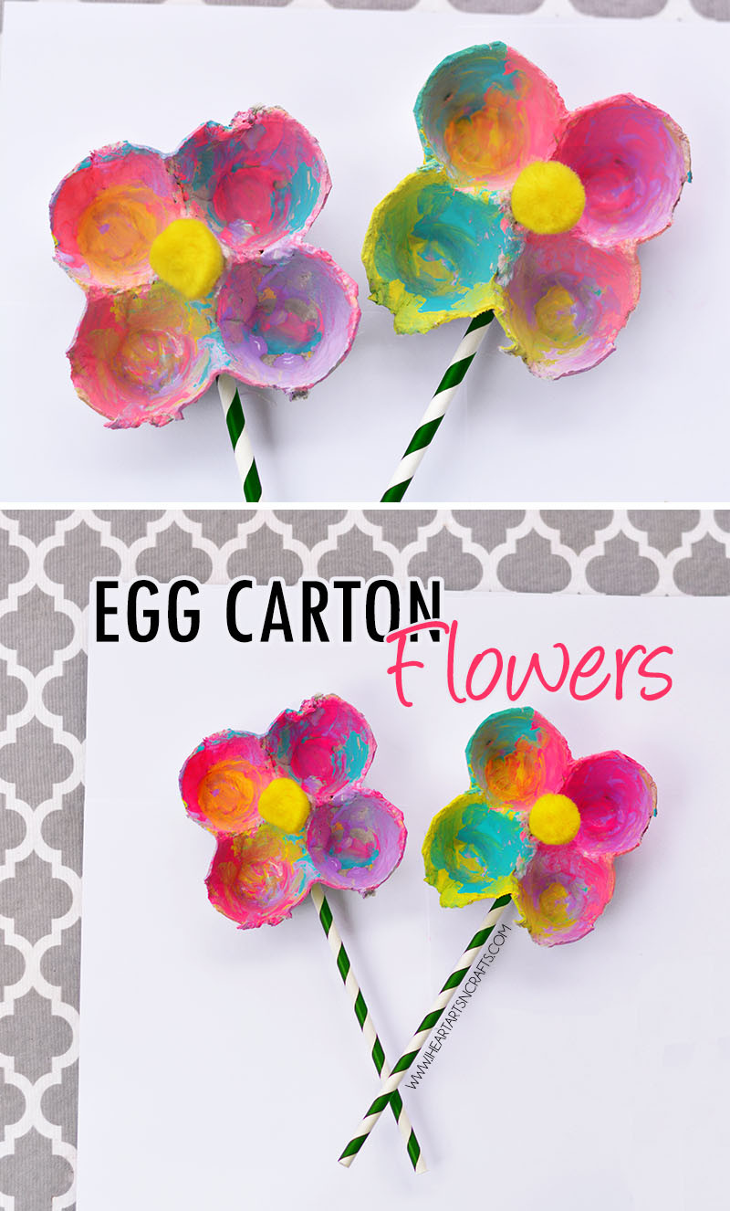 Easy Crafts For Toddlers  Egg Carton Flowers I Heart Arts n Crafts