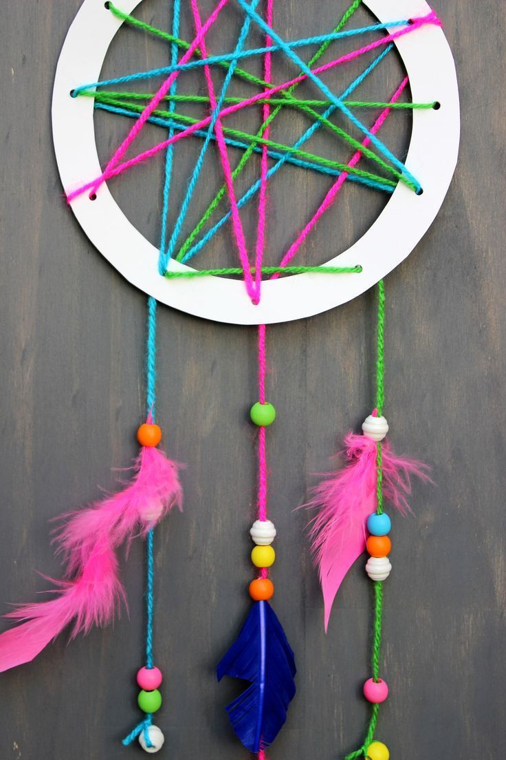 Easy Crafts For Toddlers  How to make a dream catcher for kids on jane can