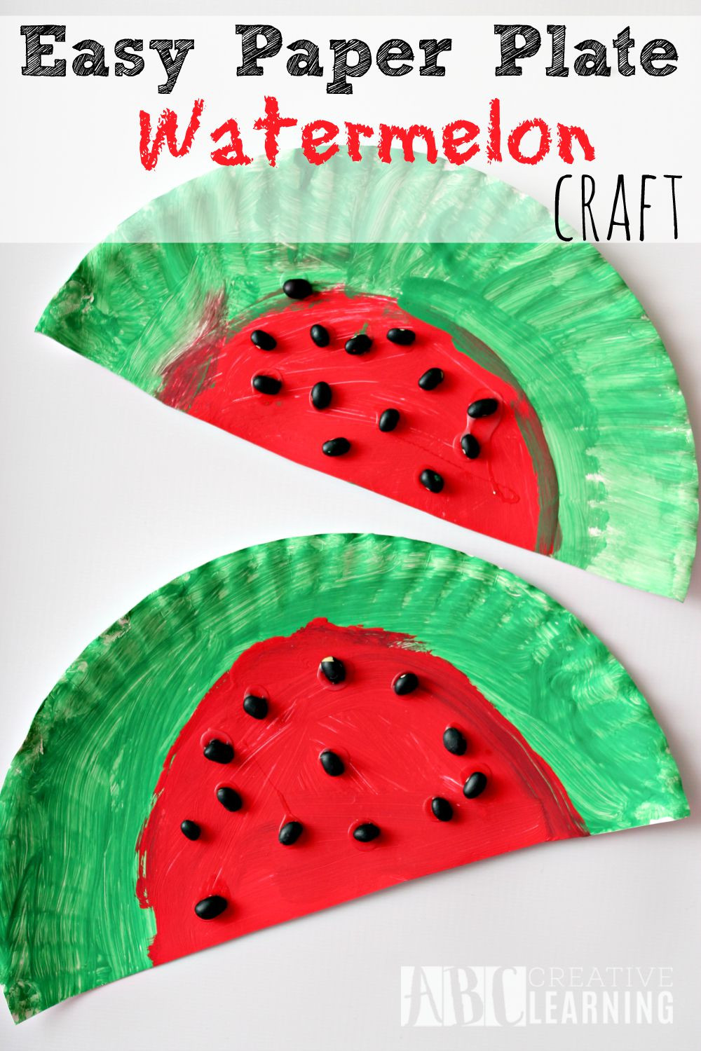 Easy Crafts For Toddlers  Easy Paper Plate Watermelon Kids Craft Perfect For Summer