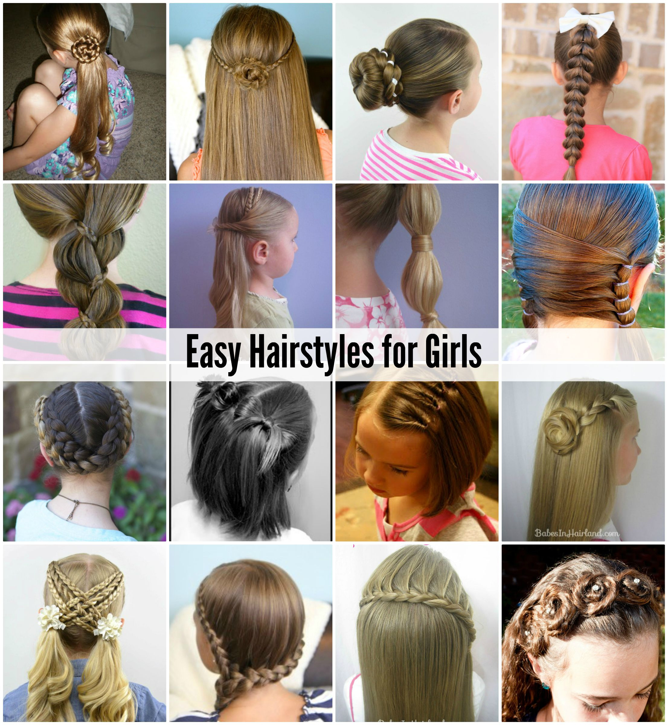 Easy Girls Hairstyles  Cute and easy hairstyles for girls with medium hair