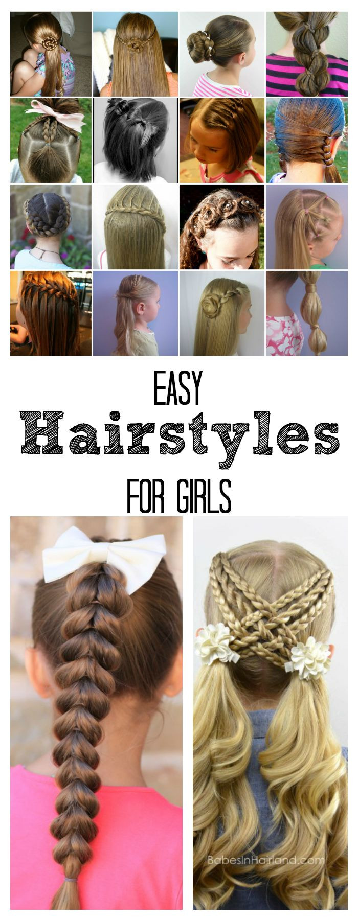 Easy Girls Hairstyles  Easy Hairstyles for Girls The Idea Room