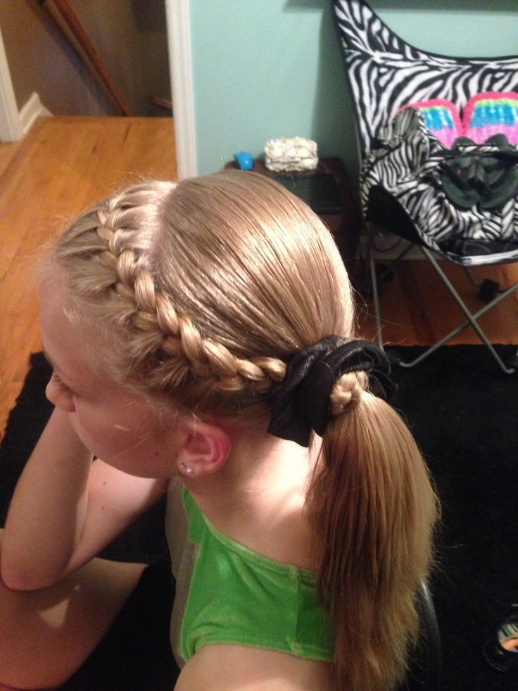 Easy Gymnastics Hairstyles  17 Best images about petition Hair on Pinterest