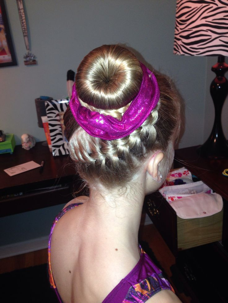 Easy Gymnastics Hairstyles  33 best images about Gymnastics hair styles for meets on
