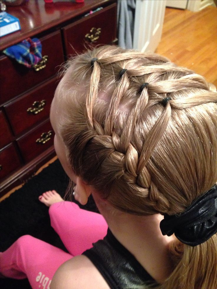 Easy Gymnastics Hairstyles  easy gymnastics hair gymnastics hairstyle hair pinterest