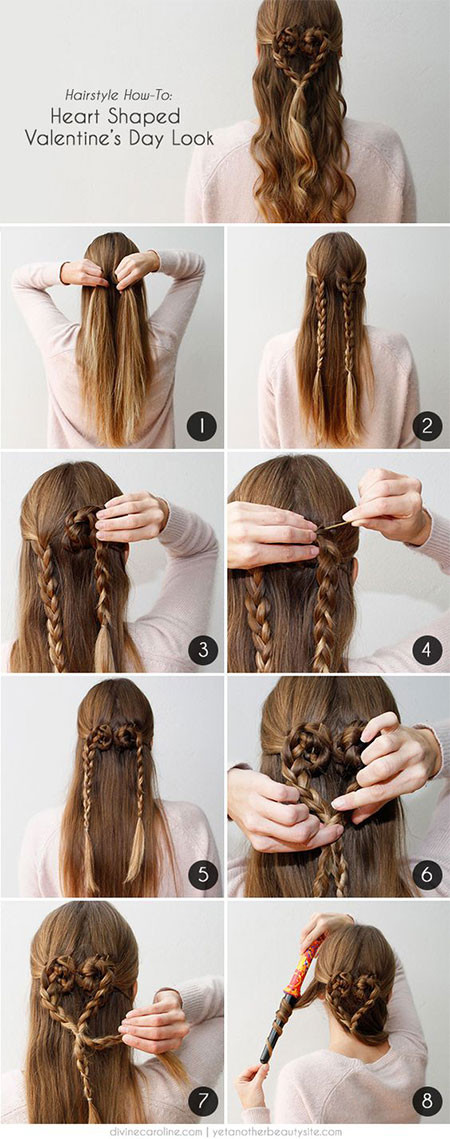 Easy Hairstyles For Picture Day  Easy Valentine s Day Hairstyle Tutorials For Beginners