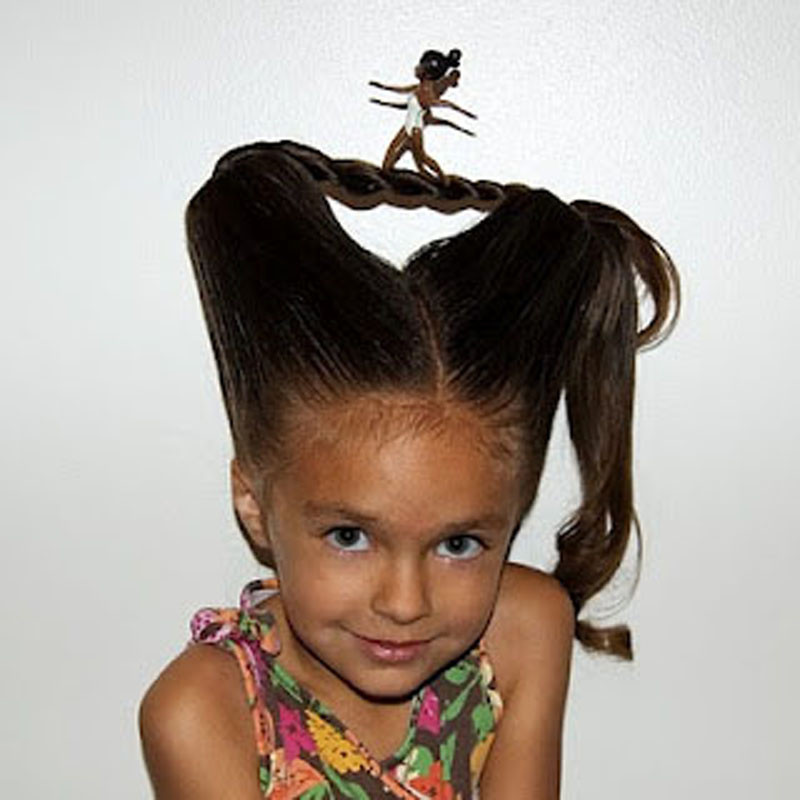 Easy Hairstyles For Picture Day  Crazy hair day ideas for long hair