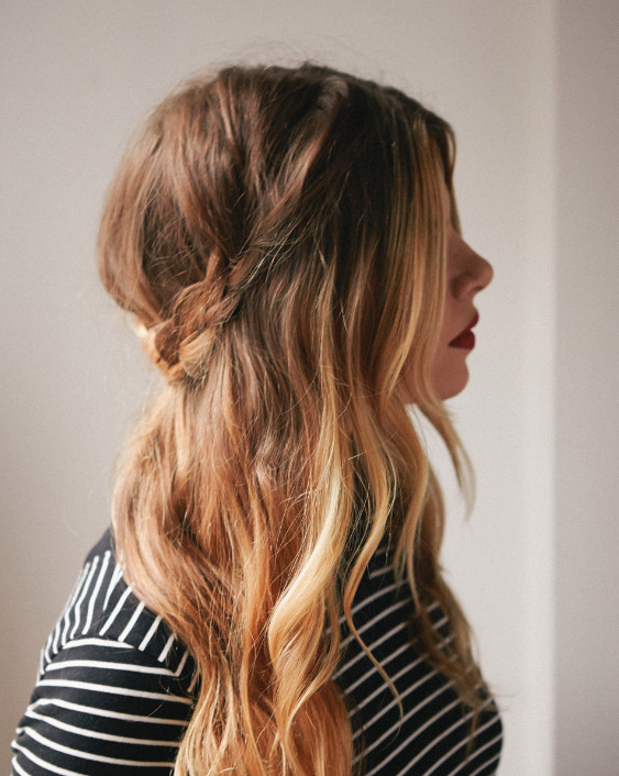Easy Hairstyles For Picture Day  Half Up Braided Crown