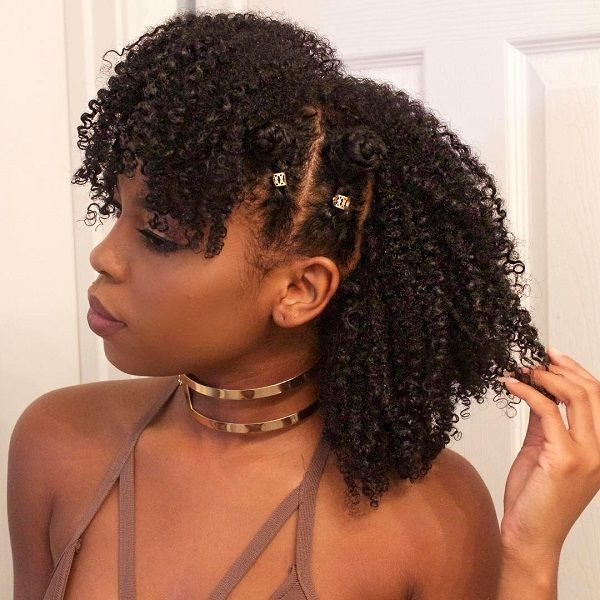 Easy Hairstyles For Short Black Hair  Curly haircuts black natural curly hairstyles