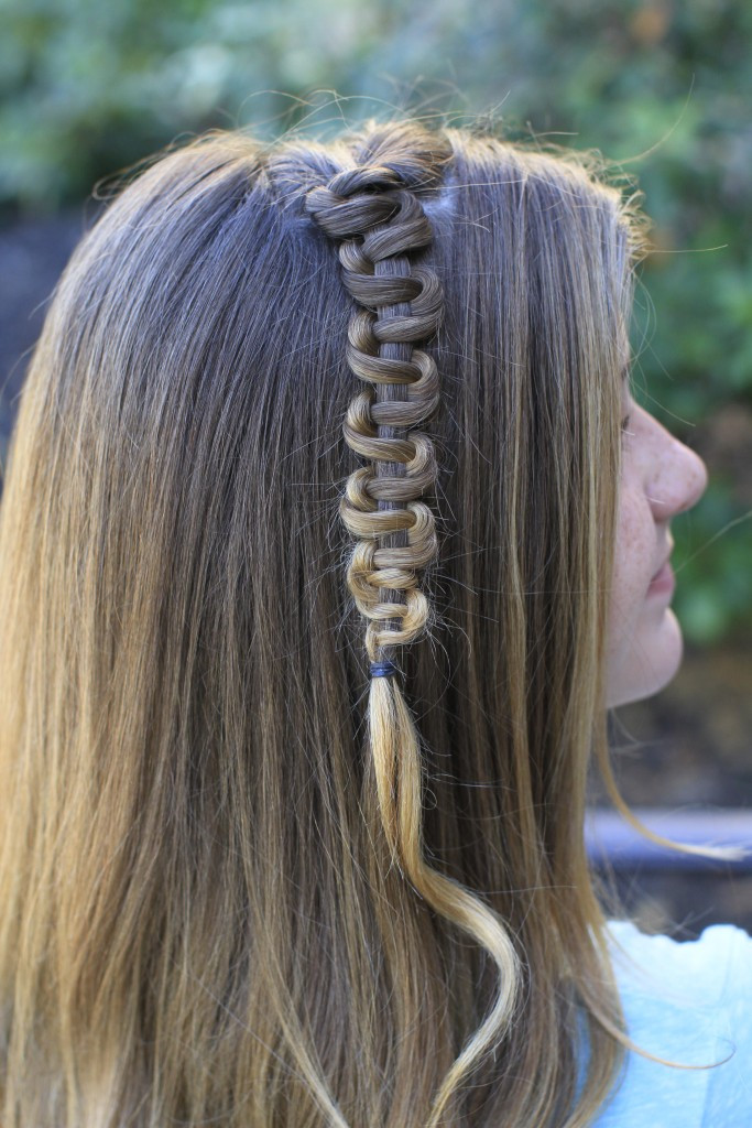 Easy Hairstyles For Teens  Teen Slide Up Braid St Patrick s Day Hairstyle