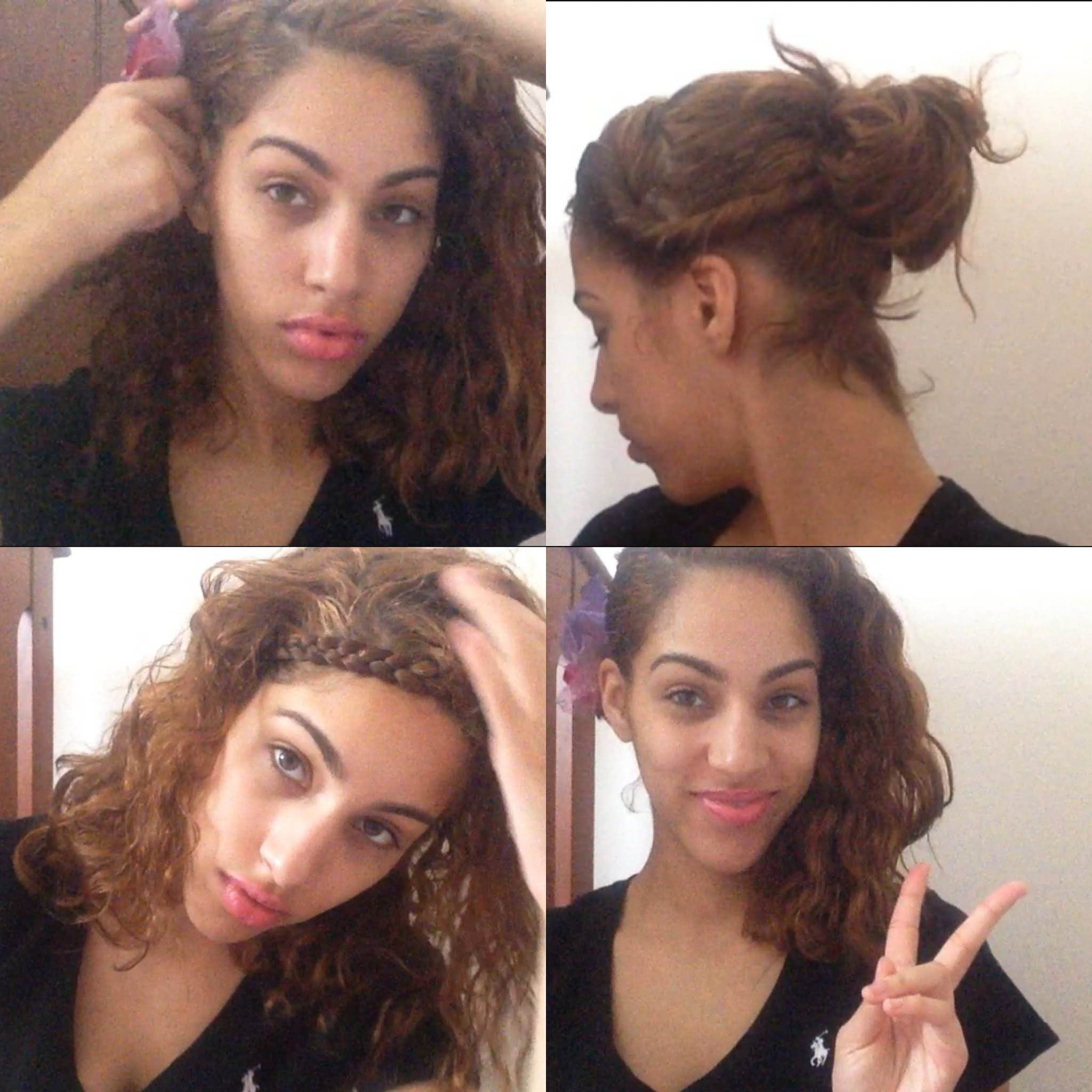 Best ideas about Easy Hairstyles For Thick Curly Hair . Save or Pin quick and easy hairstyles for thick curly hair HairStyles Now.