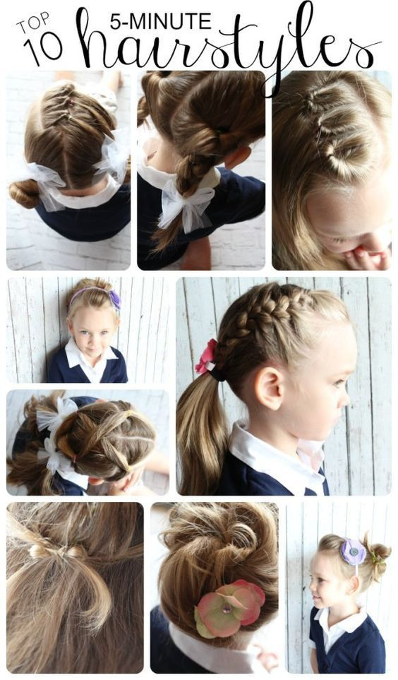 Easy Hairstyles That Kids Can Do  10 Easy Hairstyles for Girls Hair Pinterest