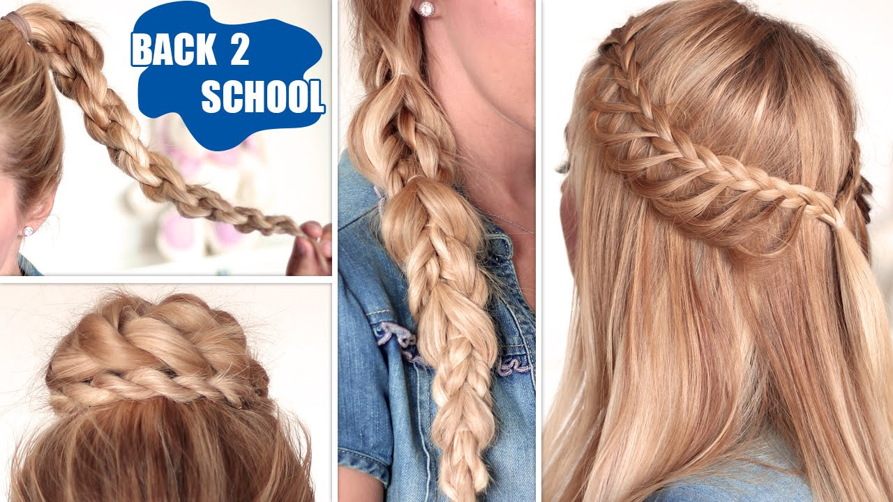 Easy Hairstyles To Do For School  Quick and easy hairstyles for school for long hair