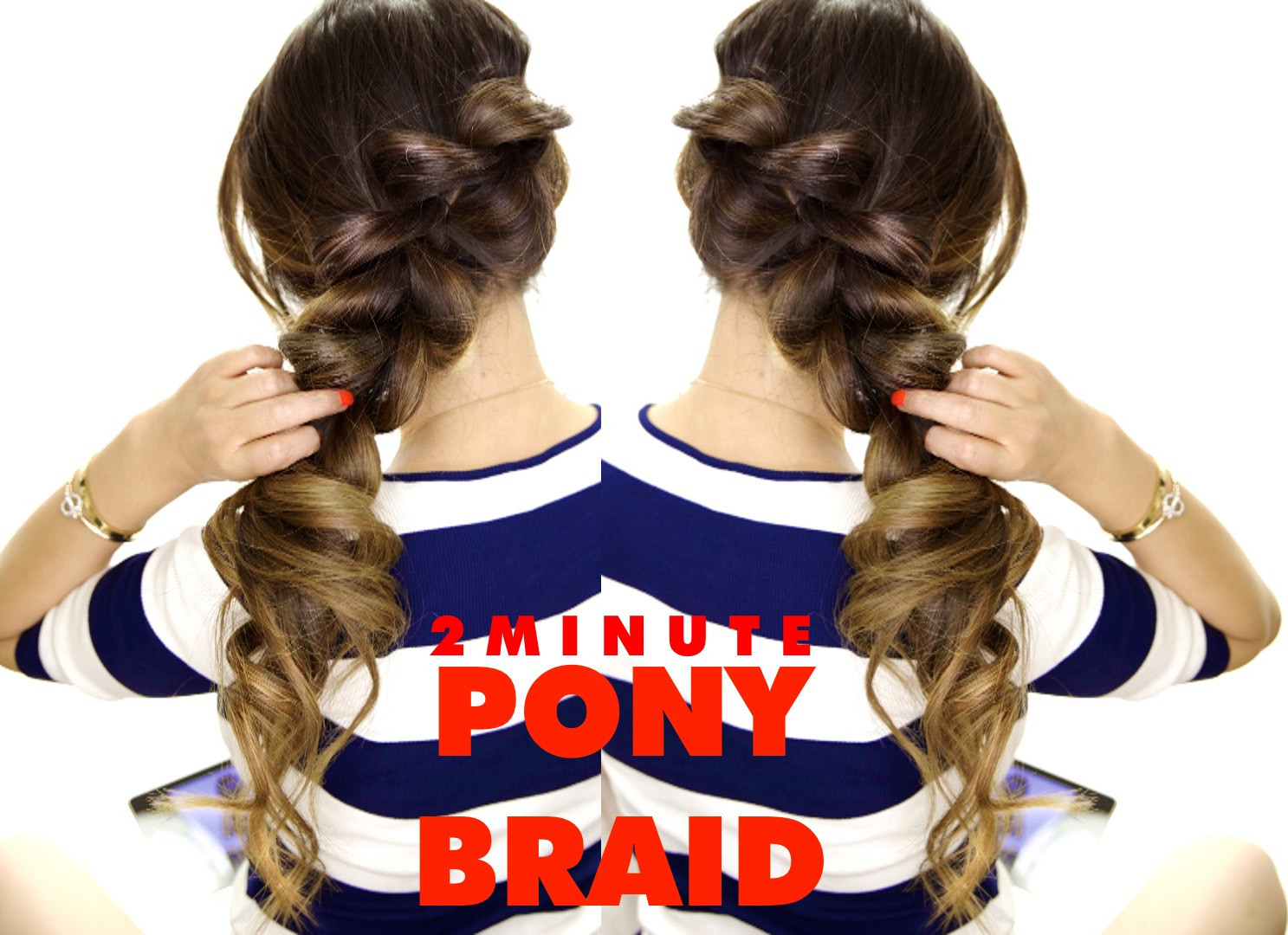 Easy Hairstyles To Do For School  2 Minute Fancy Ponytail Braid