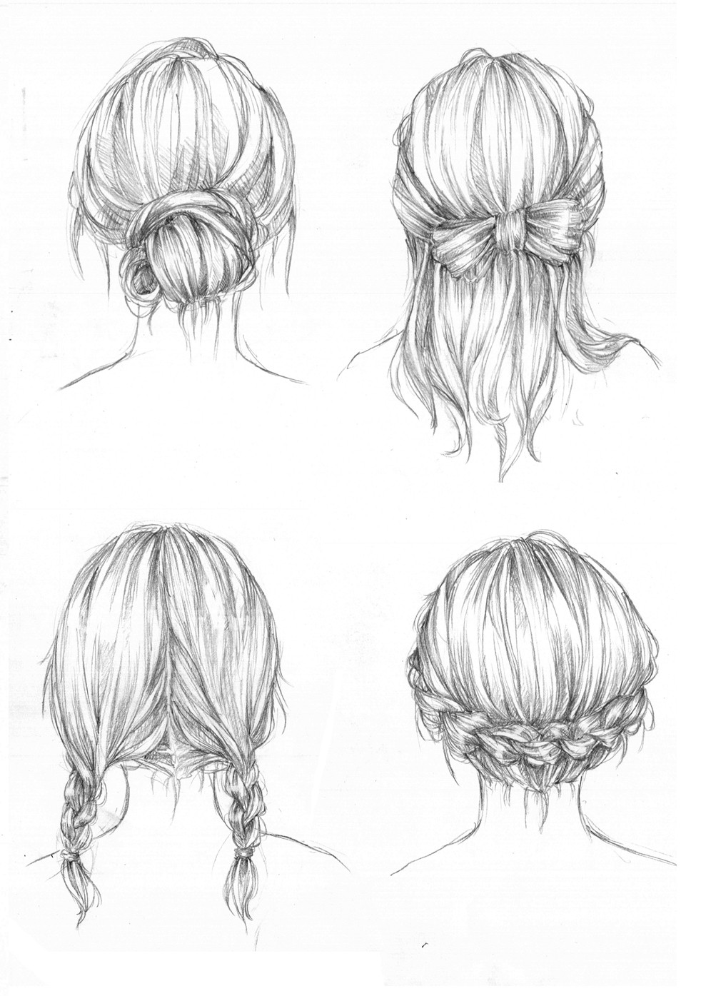 Easy Hairstyles To Draw  Hairstyles by Capilair on DeviantArt