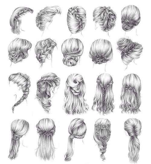Easy Hairstyles To Draw  Oh my goodness I can finally draw cute hairstyles