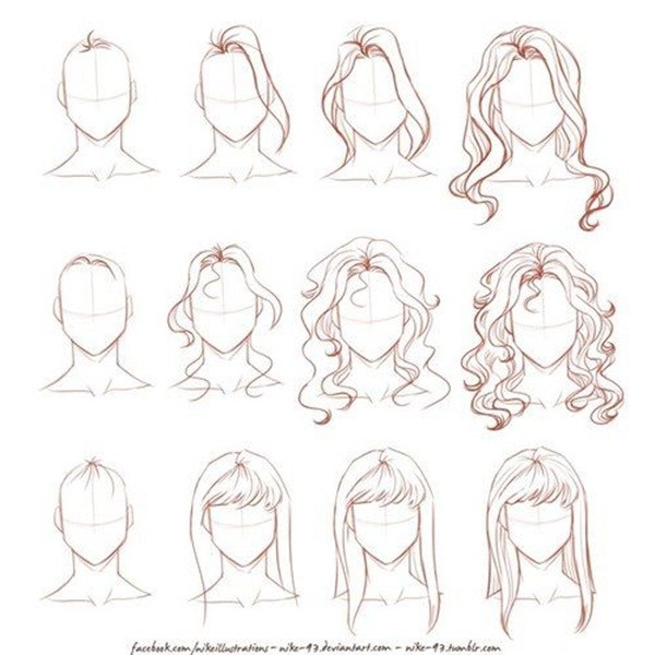 Easy Hairstyles To Draw  How To Draw Hair Step By Step Image Guides