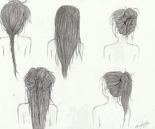 Easy Hairstyles To Draw  Wie kriege ich den Dutt auf dem Bild so hin Frisur