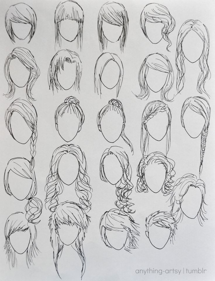 Easy Hairstyles To Draw  Drawn braid beginner hair Pencil and in color drawn
