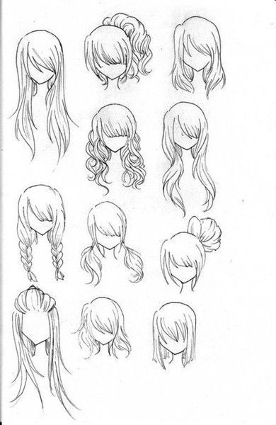 Easy Hairstyles To Draw  Draw Realistic Hair