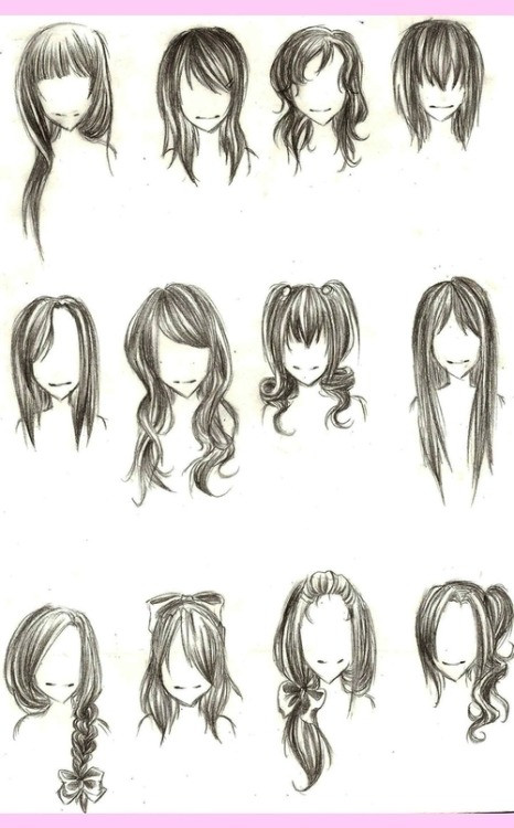 Easy Hairstyles To Draw  cute drawing hairstyles
