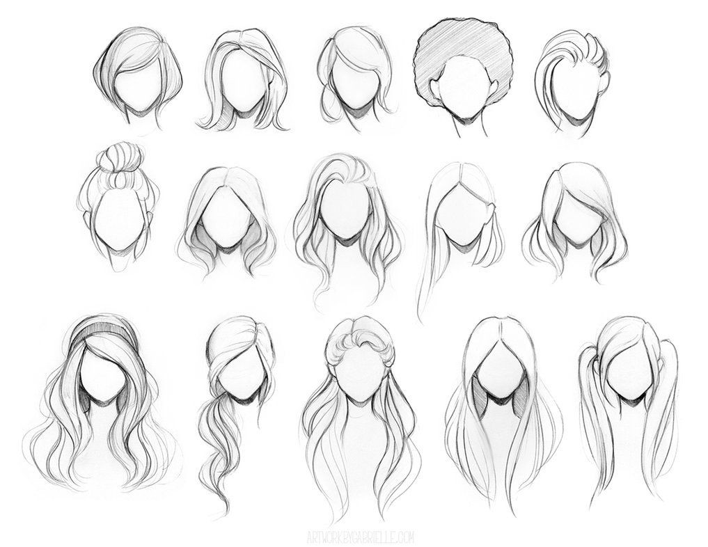 Easy Hairstyles To Draw  I can t wait to share my new character drawing class with