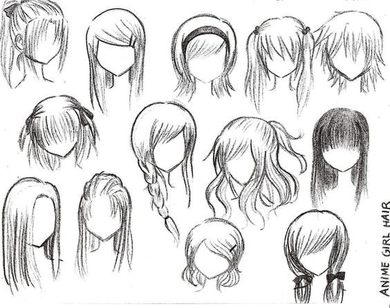 Easy Hairstyles To Draw  Anime Haare Anime and Anime Frisuren on Pinterest